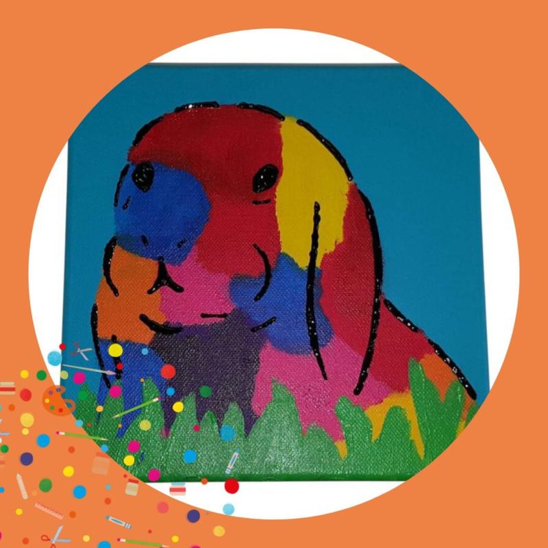 Kinderfeestje Bonte dieren beschilderen