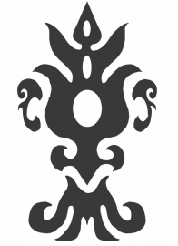 Ornament serie nr 8 Sticker, 37 x 22 cm