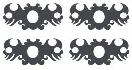 Ornament serie nr 9, sticker, per 4 stuks