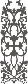 Ornament serie nieuw 2, Sticker,  vanaf 40 b x 130 h in cm.