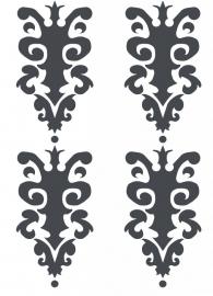 Ornament serie nr 7 Sticker, per 4 stuks