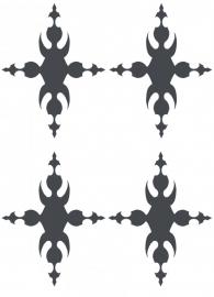 Ornament serie nr 4 Sticker, per 4 stuks