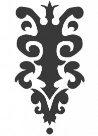 Ornament serie nr 7 Sticker, 37 x 20 cm.