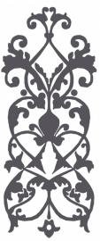 Ornament serie nieuw 1, Sticker, vanaf 40 b x 130 h in cm.