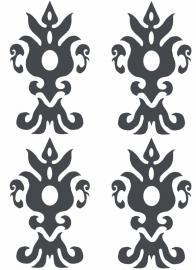 Ornament serie nr 8 sticker, per 4 stuks
