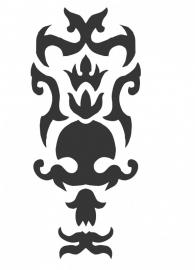 Ornament serie nr 5 Sticker, 37 x 16 cm.