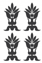Ornament serie nr 6, sticker, per 4 stuks