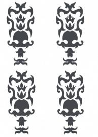 Ornament serie nr 5 Sticker, per 4 stuks