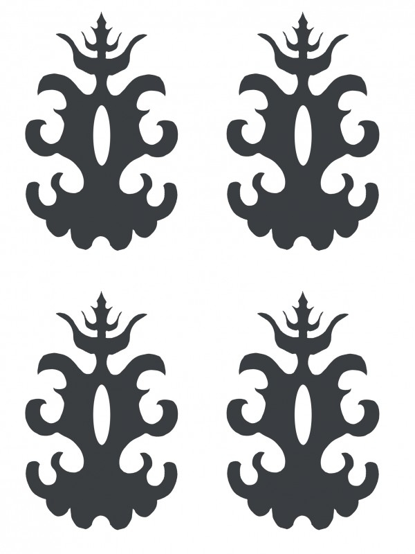 Ornament serie nr 3 Sticker, per 4 stuks