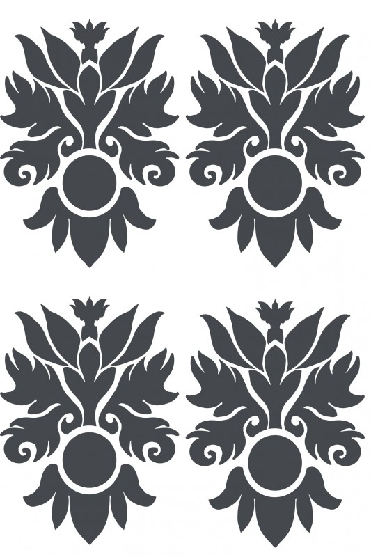 Ornament serie nr 1 Sticker , per 4 stuks