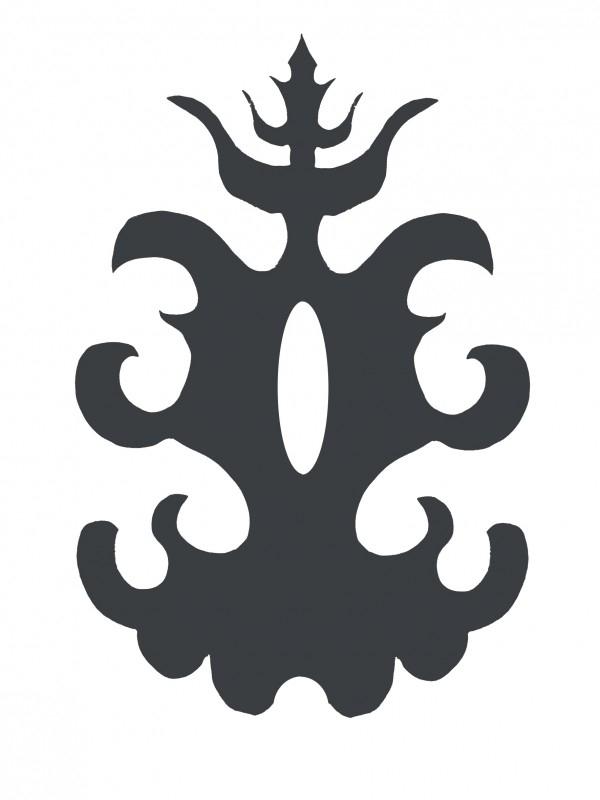Ornament serie nr 3 Sticker, 37 x 25 cm.