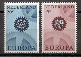 Nvph  884/885 Europa 1967 Postfris