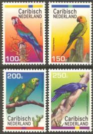 Caribisch Nederland  27/30 Papegaaien 2012 Postfris
