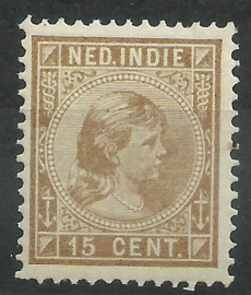 Nederlands Indië  25 15ct Prinses Wilhelmina Postfris (2)