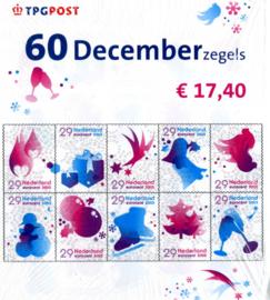 3 Vellen Kerst 2005 nvph 2371/2380  in plastic Postfris