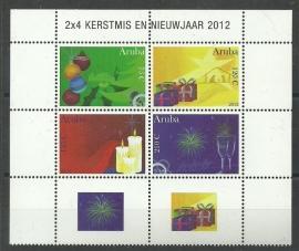 Aruba 631/634 Kerst en Nieuwjaar 2012 Postfris