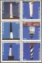 Sint Maarten 181/186 Amerikaanse Vuurtorens 2013 Postfris