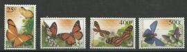 Nederlandse Antillen 1386/1389 Vlinders 2002 Postfris
