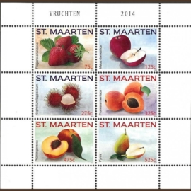 Sint Maarten 220/225 Vruchten 2014 Postfris
