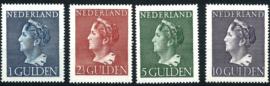 Nvph 346/349 Hoge Waarden Konijnenburg Postfris + Certificaat ( 7)
