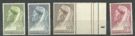 Suriname 175/178 Wilhelmina met Sluier Postfris (1)
