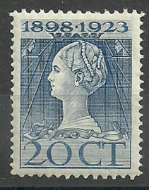 Nvph 125H (11½×12½) 20 ct Jubileum 1923  Postfris (1)