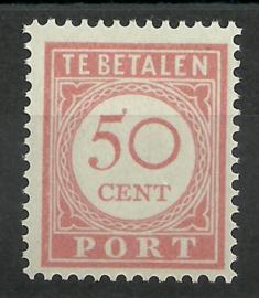 Nederlands Indië Port 36 50 ct Cijfer en waarde in rood 1913-1924 Postfris (1)