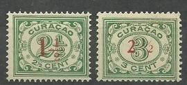 Curacao 101/102 Hulpuitgifte Postfris