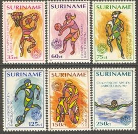 Suriname Republiek  730/735 Olympische Spelen 1992 Postfris
