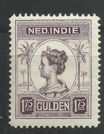 Nederlands Indië 133C 1¾ GLD Koningin Wilhelmina Postfris (4)