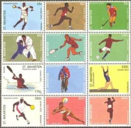 Sint Maarten  88/99 Olympische Spelen Londen 2012 Postfris