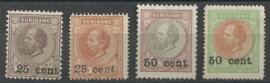 Suriname  37/40 1873-1888 Hulpuitgifte (2) Ongebruikt