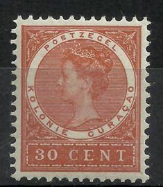 Curacao  40 30ct  Koningin Wilhelmina Veth Postfris (1)