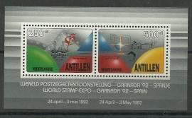 Nederlandse Antillen 1003 Wereld Postzegeltentoonstelling 1992 Postfris