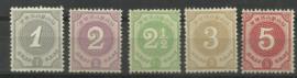 Curacao  13/17 Cijfer 1889/1891 Postfris (2)