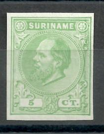 Suriname   3c  lichtgroen 5ct Berlijnse Kleurproef Ongebruikt (1)
