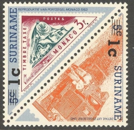 Suriname Republiek  740/741 Hulpuitgifte 1992 Postfris (Los)