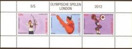 Sint Maarten 100 Blok Olympische Spelen Londen 2012 Postfris