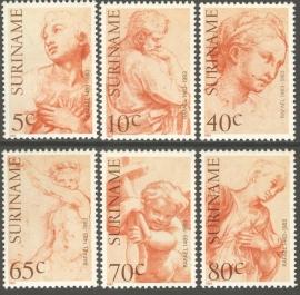 Suriname Republiek 342/347 500ste Geboortedag Rafaël 1983 Postfris