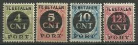 Port  65/68 Overdruk 1899-1913 + 1899-1921 Postfris