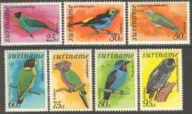 Suriname Republiek  65/71 Luchtpost Vogels 1977 Postfris