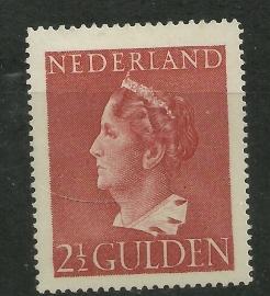 Nvph 347 2½ Gulden Konijnenburg Ongebruikt (1)