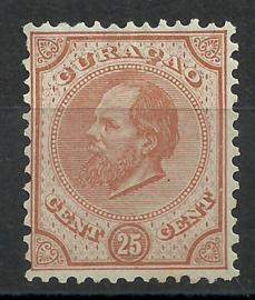 Curacao   7D 12½ × 12  25 ct Willem III Ongebruikt (1)