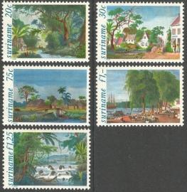 Suriname Republiek 268/272 Schilderijen 1981 Postfris