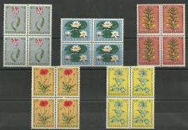 Nvph 738/742 Zomerzegels 1960 in Blokken Postfris