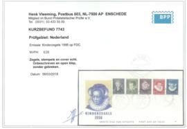 FDC E28 Onbeschreven met open klep + Befund (2)