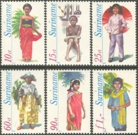 Suriname Republiek 192/197 Kinderklederdrachten 1980 Postfris