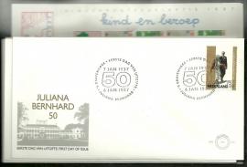 FDC Jaargang 1987 compleet onbeschreven met open klep E241/E250a