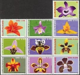 Suriname Republiek  2023/2032 Orchideeën 2014 Postfris