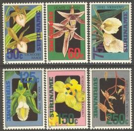 Suriname Republiek  721/726 Orchideeën 1992 Postfris